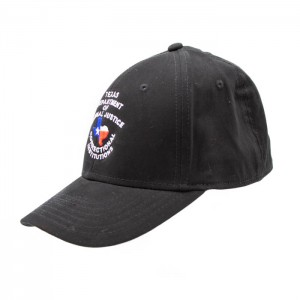 TDCJ Cap A Flex Cap in Black