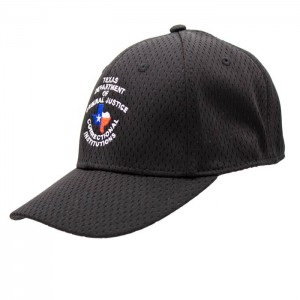 TDCJ Cap B Stretchable Polyester Pro Mesh Flex Cap in Black