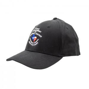 TDCJ Cap C Velcro Cap in Black