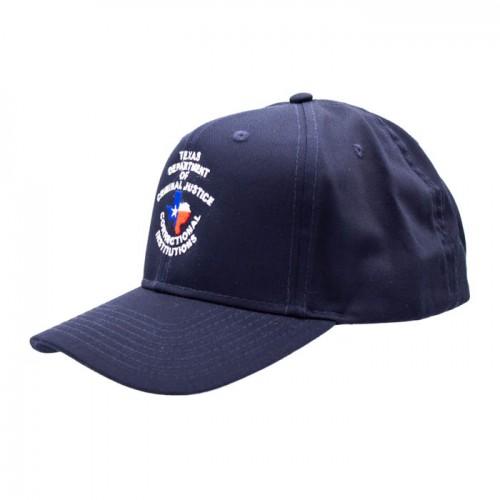 TDCJ Cap E 6 Panel Pro Style Cotton Blend Twill Cap in Navy