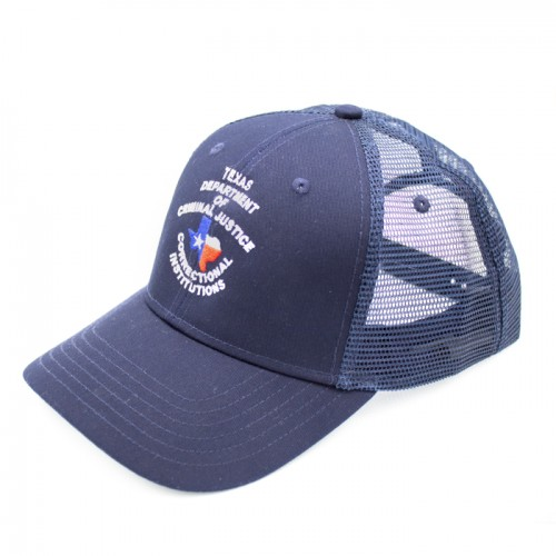 TDCJ Cap F Cotton Twill Six Panel Low Pro Mesh Cap in Navy
